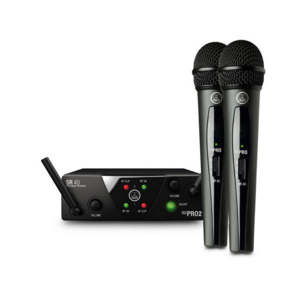 Sistema de microfono Inalambrico AKG WMS40 Mini Dual Vocal